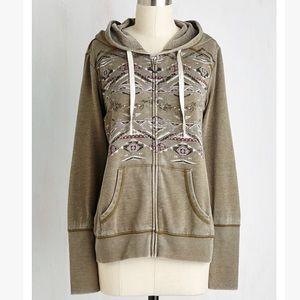 Aztec Print Lightweight Sweatshirt